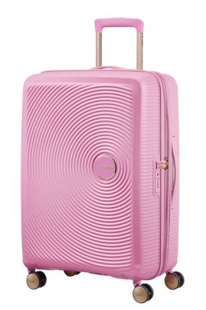 American Tourister Soundbox 67 cm, Pearl Pink/Gold