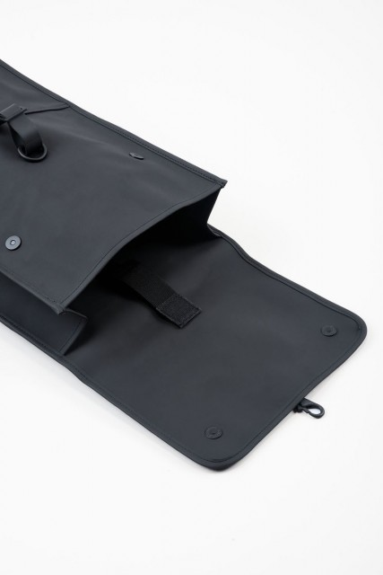 Rains Backpack, Black, open