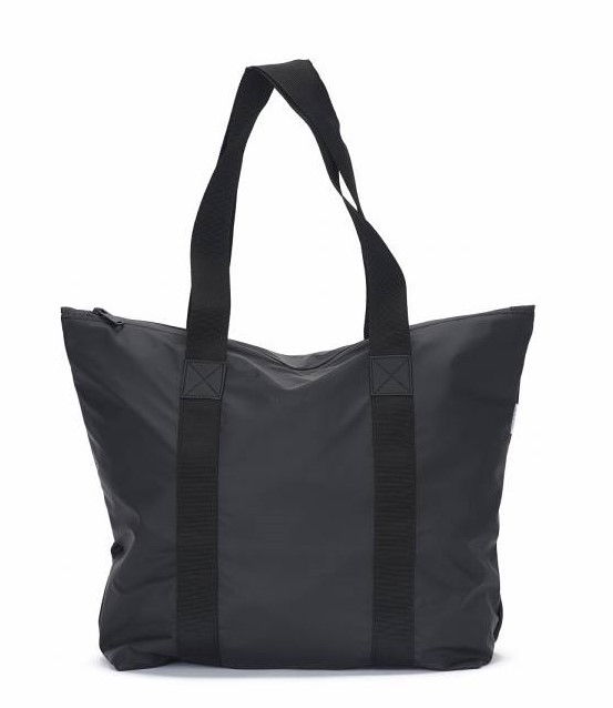 Rains Tote Bag Rush, Black, front