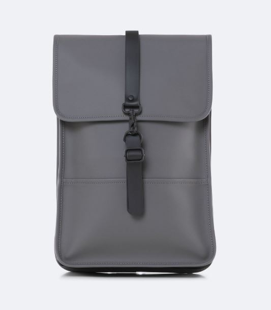 Rains Mini Backpack, Charcoal (front)